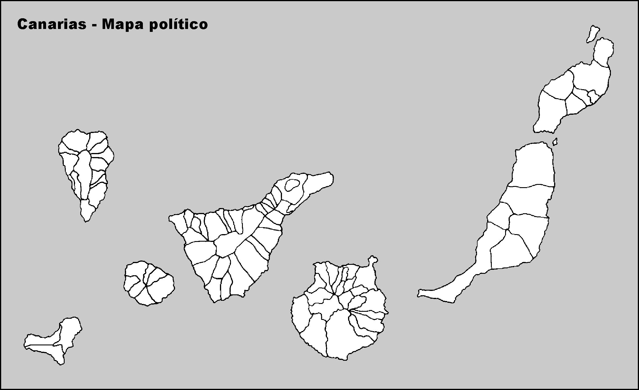 Mapa Mudo De Canarias.8 La Organizacion Territorial Del Estado Espanol Geohis