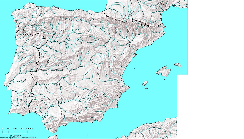 Mapa Hidrografico De España Mudo.Bloque 3 La Diversidad Climatica La Vegetacion Y La