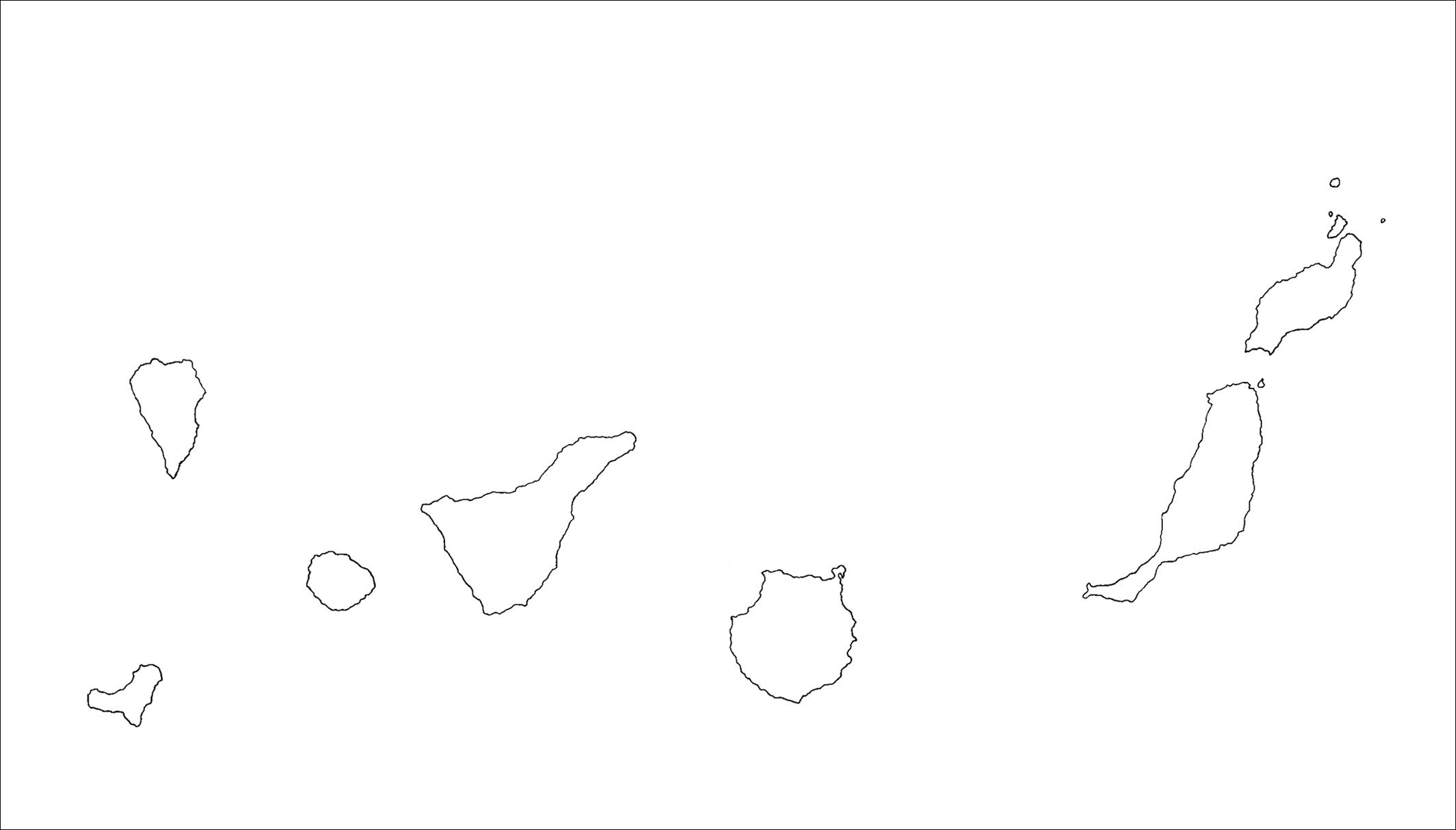 Mapa Mudo De Canarias.6 El Medio Fisico Canario Geohis Daute Lomce